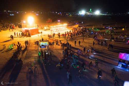 Site3 Fire Arts' Charcade at Burning Man 2013
