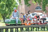 Of course - free miniature train rides!