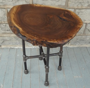 Live-Edge-Round-Walnut-Side-Table