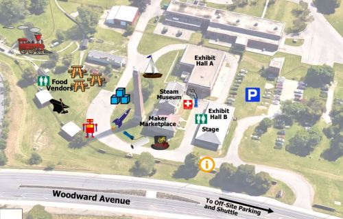 2016 Hamilton Maker Faire Museum Site Map